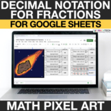 Decimal Notation for Fractions | 4th Grade Math Mystery Pi