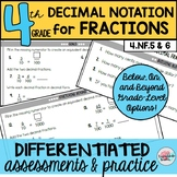 Decimal Fractions Notation Assessments or Practice Sheets {Differentiated}