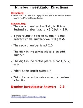 Decimal Number Investigator