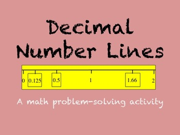 Decimal Number Line Problem-Solving Activity by Eric Jayne ...