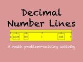 Decimal Number Line Problem-Solving Activity
