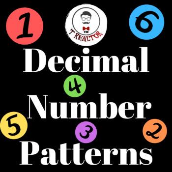 Decimal Number Patterns|Math Worksheet: Identifying Number Patterns|Fun Equation