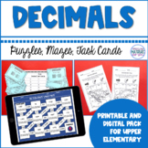 Decimal Number Sense Puzzles, Mazes, and Task Cards