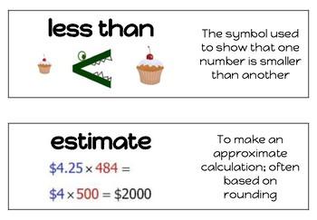 Decimal Number Sense Vocab (edit in Google Slides)