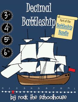 Decimal Number line Battleship Game