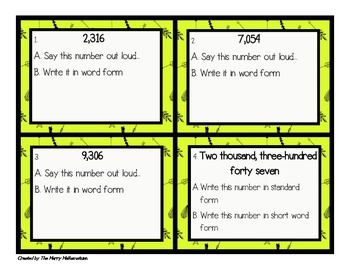 Decimal Numbers in Standard, Word and Expanded Form Differentiated Task Cards