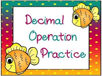 Decimal Operation Practice