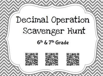 Decimal Operation Scavenger Hunt Review