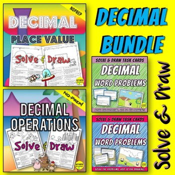 Decimal Activities for Place Value, Operations, and Word Problems