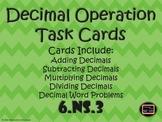 Decimal Operation Task Cards {6.NS.3}