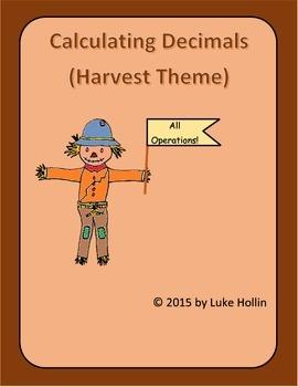 Harvest Themed Decimal Operation Activities