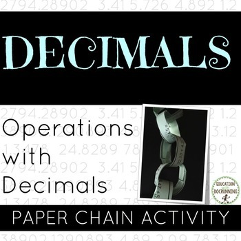 Decimal Operations Paper Chain Activity
