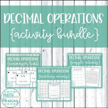 Decimal Operations Activity Mini-Bundle