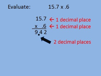 Decimal Operations (Add, Subtract, Multiply Decimals)