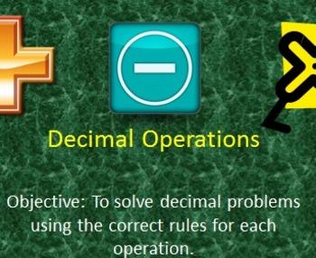 Decimal Operations (Add, Subtract, Multiply Decimals)