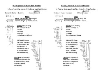 Decimal Operations: Add, Subtract, Multiply, and Divide Interactive Notebook
