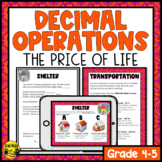 Decimal Addition & Subtraction to Hundredths- The Price of Life