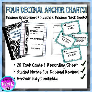 Decimal Operations Anchor Chart BUNDLE!