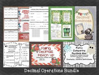 Decimal Operations Bundle