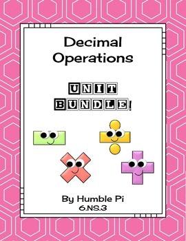 Decimal Operations Bundle-6.NS.3