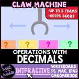 Decimal Operations Claw Machine Interactive Review Game