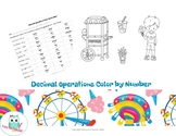 Decimal Operations Color by Number