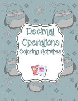 Decimal Operations Coloring Activities