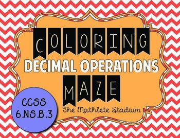 Decimal Operations Coloring Maze