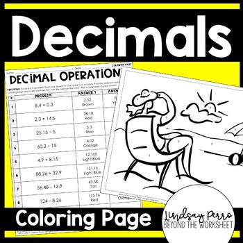 Decimal Operations Coloring Worksheet