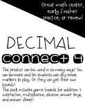Decimal Operations Connect 4 Game