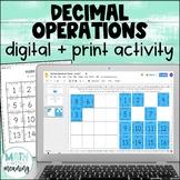 Decimal Operations DIGITAL Puzzle Activity for Google Drive & Microsoft OneDrive