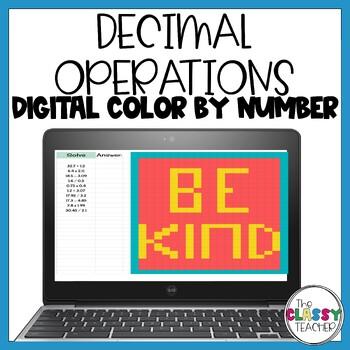 Decimal Operations - Digital Color by Number