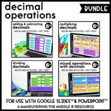Decimal Operations Digital Math Activity Bundle | 6th Grade Math