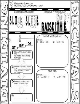 Decimal Operations Doodle Notes Bundle