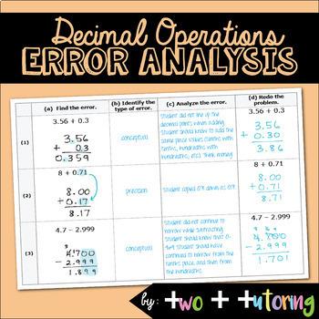 Decimal Operations Error Analysis