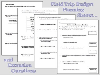 Decimal Operations Field Trip Planning Project Common Core Aligned