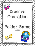 Decimal Operations File Folder Game