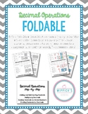 Decimal Operations Foldable