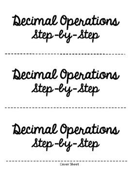 Decimal Operations Foldable