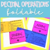 Decimal Operations Foldable Interactive Notes