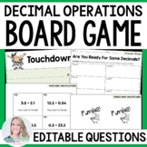 Decimal Operations Board Game