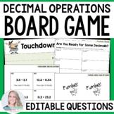 Decimal Operations Board Game
