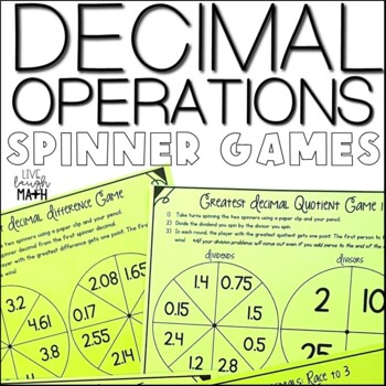 Decimal Operations Games- Decimal Spinners