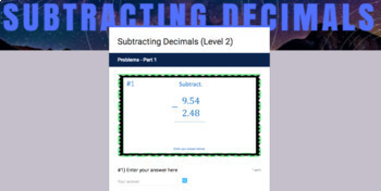 Decimal Operations Google Form Bundle – Perfect for Google Classroom!
