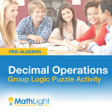 Decimal Operations Group Activity - Logic Puzzle | Good fo