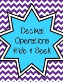 Decimal Operations Hide & Seek
