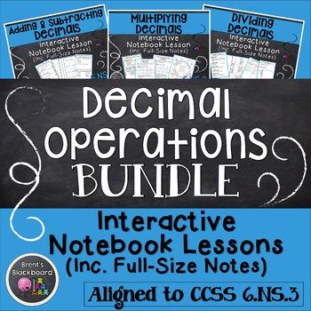 Decimal Operations Lessons CCSS 6.NS.3 (BUNDLE)