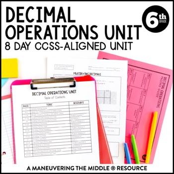 6th Grade Decimal Operations Unit: 6.NS.2, 6.NS.3
