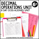 Decimal Operations Unit: 6th Grade Math (6.NS.2, 6.NS.3)