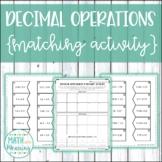 Decimal Operations Matching Activity